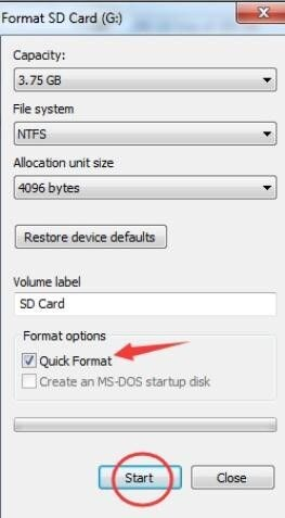 How to Format SD Card